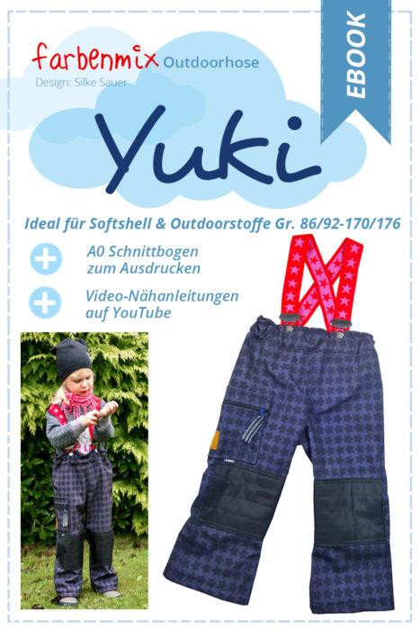 Outdoorhosen nähen mit YUKI ein Schnittmuster von farbenmix als Papierschnitt oder Ebook erhältlich.