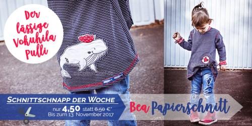 SchnittschnappderWoche - Papierschnittmuster Oversized Pulli BEA von farbenmix