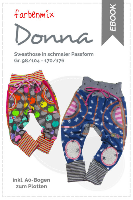 Ebook Sweathose Donna Design: bienvenido colorido - Sweathose nähen mit schmaler Passform Ebooks von farbenmix