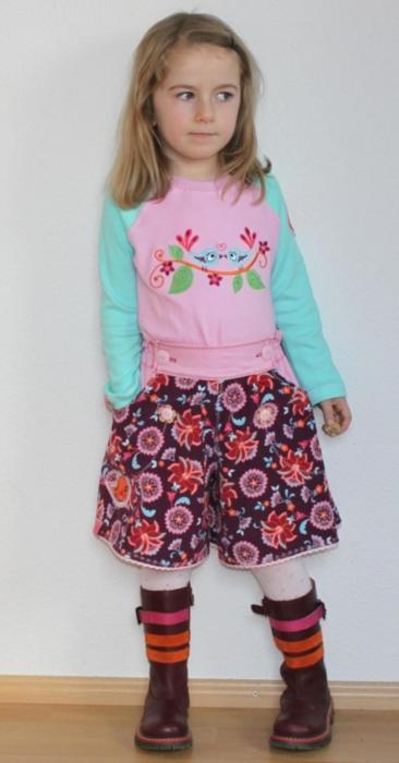 Röcke für starke Mädchen selber nähen - mit dem Hosenrock IDA von farbenmix