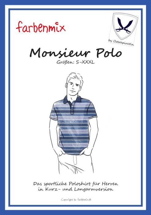 Monsieur Polo jetzt auch als Papierschnittmuster bei farbenmix