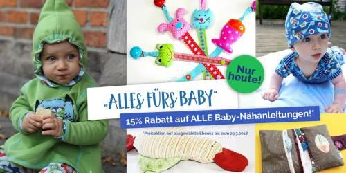 Rabattaktion Baby Nähanleitungen