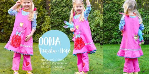 Tunika für Kinder - selber nähen mit der Tunikakombi Oona von farbenmix als Ebook oder Papierschnittmuster
