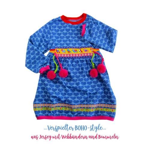 Tunika für Kinder - YASMINA Schnittanleitung für eine Tunika von farbenmix Boho -style - selbernähen