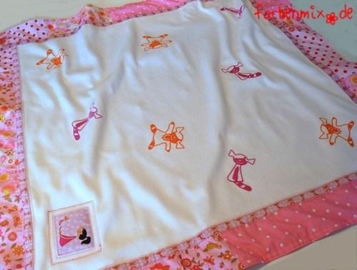 Schnittmuster für Kinderkleidung Babydecke nähen Anleitung