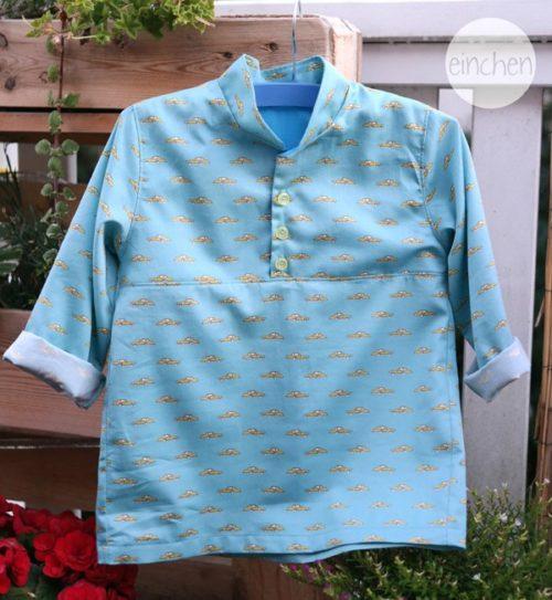 Hemd Bjarne - Oberteile für Jungs nähen - Schnittmuster von farbenmix um ein Hemd für Jungen zu nähen