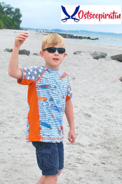 sportliches Shirt - Raglanshirts für Jungs nähen mit dem Ebook Enfant Sportif von farbenmix