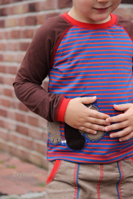 Raglanshirt Schnittmuster sportlich für Jungs und Mädchen mit Ebook und Papierschnittmuster ZOE von farbenmix