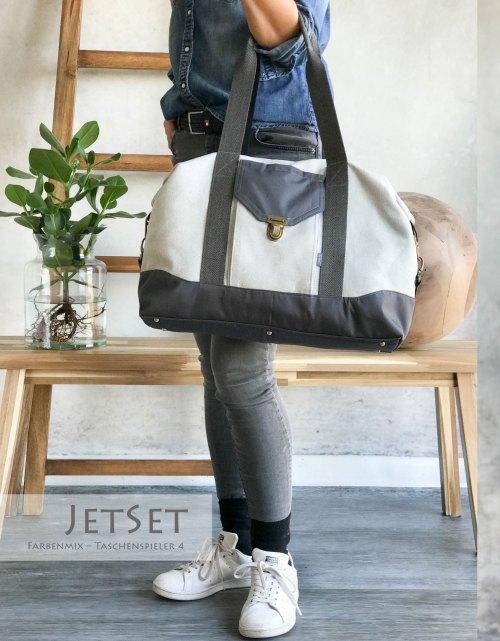 Nähen für die Ferien. Eine kleine Reisetasche für Kurztrips, oder fürs Handgepäck - die JetSet Tasche von farbenmix