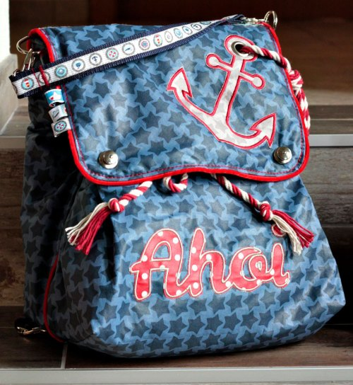 Hope . Ein praktischer Rucksack auch für die Reise. Nähen für den Urlaub macht riesig Spass. Ein schönes Projekt wäre ein Rucksack für den Städtetrip