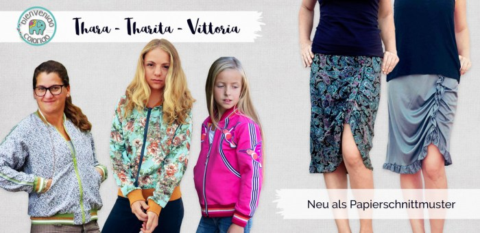 neue Papierschnitte von bienvenido colorido - Thara und Tharita