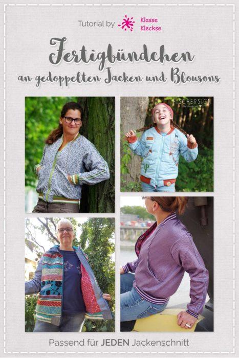 kostenloses Tutorial Fertigbündchen ( cuffs ) an gedoppelten Jacken und Blouson nähen