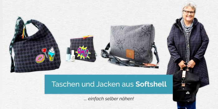 Softshell für Taschen, Jacken und Mäntel jetzt im farbenmix Stoffshop
