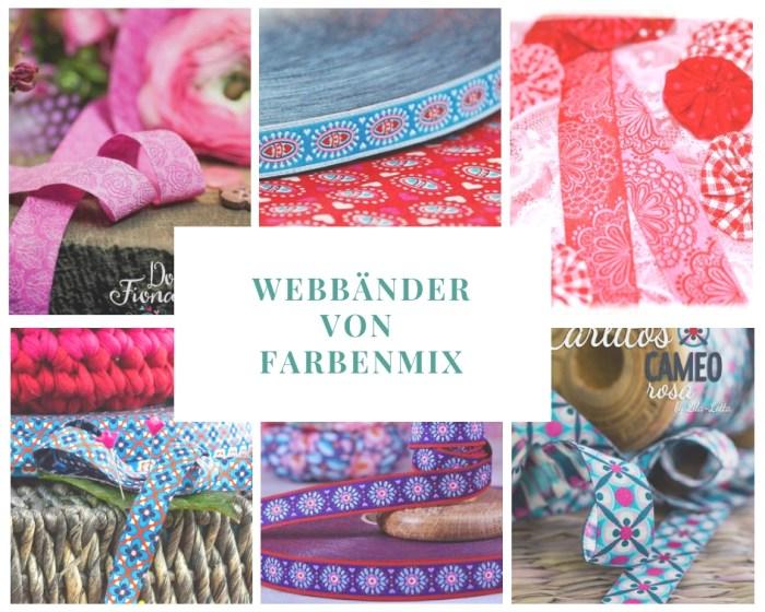 Webband mit folklore Motive - Ornamente - Webbänder von farbenmix