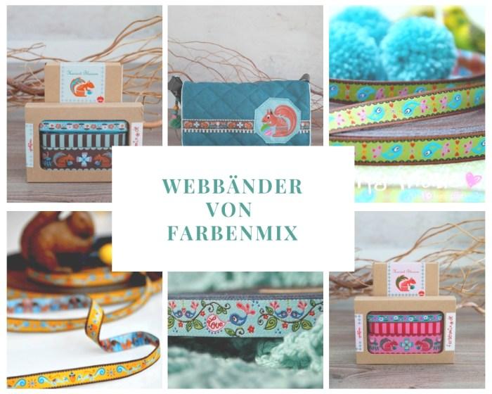 Folklore Webband Tiere von farbenmix