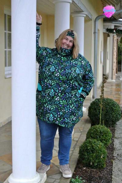 Paula XL Plus Size Sweatjacke, Raglanjacke von farbenmix