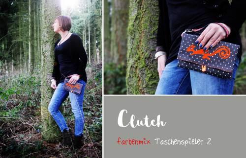 Anfänger Nähprojekt - Clutch - Taschenschnittmuster zum sofort loslegen von farbenmix