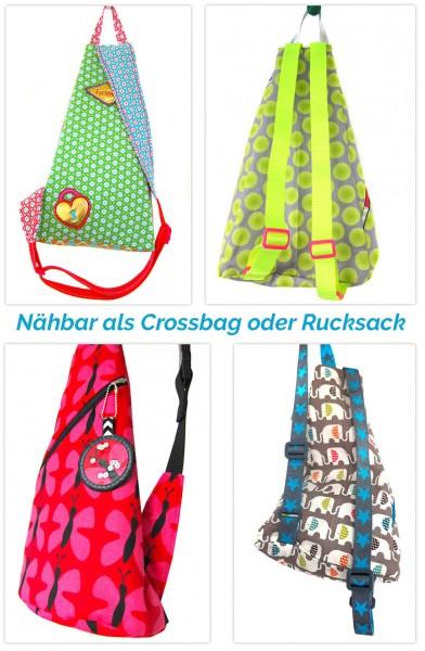 Crossbag oder Rucksack Schnittmuster von farbenmix