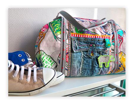 Reisetaschen nähen mit dem Schnittmuster König aus der Taschenspieler 1 als Ebook Version von farbenmix