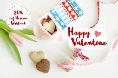 Webbänder mit Herzen - Valentinstag Geschenke verpacken mit Webbänder Bändern von farbenmix
