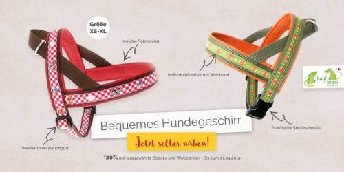 Bequemes Hundegeschirr selber nähen - tolle Geschenkidee für Hundeliebhaber - jetzt Ebook bei farbenmix