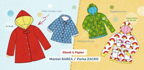 Jackenschnittmuster für den Übergang von farbenmix - Rabea und Zacko - Jacken nähen
