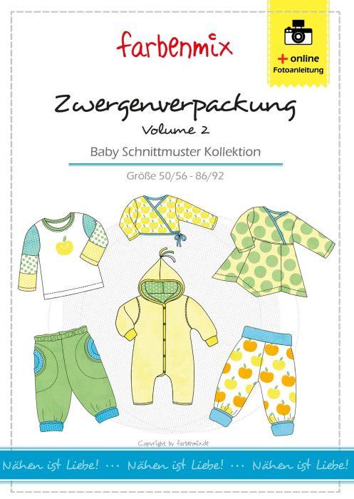 Zeugenverpackung 2 Baby Schnittmuster Kollektion. Näh Dir deine Baby Garderobe selber