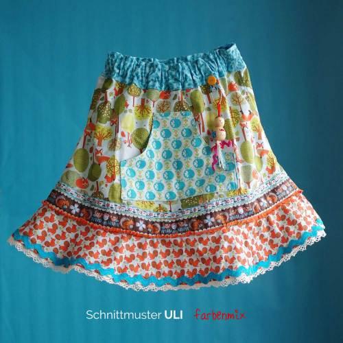 Hosenrock für Kinder nähen mit ULI das Schnittmuster von farbenmix