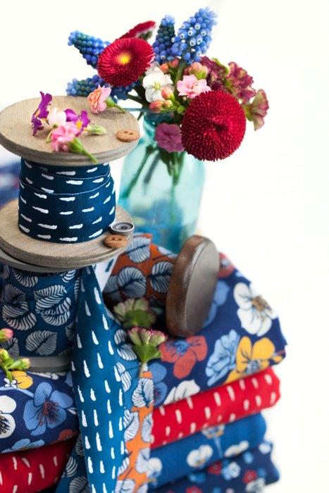 Sew And More Webbandkollektion design Lila Lotta Pinselstrich