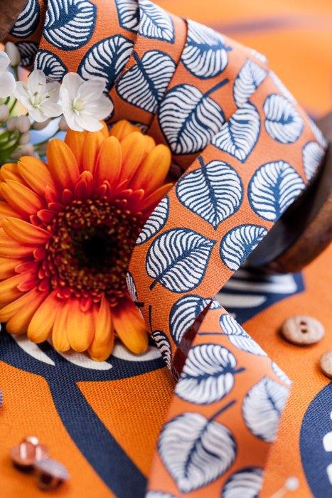 sew and more Webbänder Blätter in Orange - Lila Lotta Sew & More Webbänder