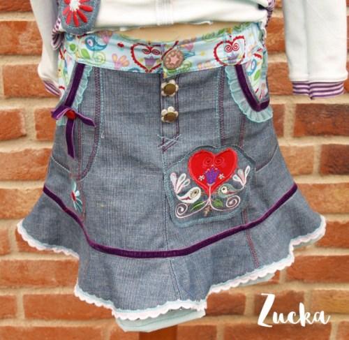 Minirock für Mädchen nähen - mit ZUCKA von farbenmix