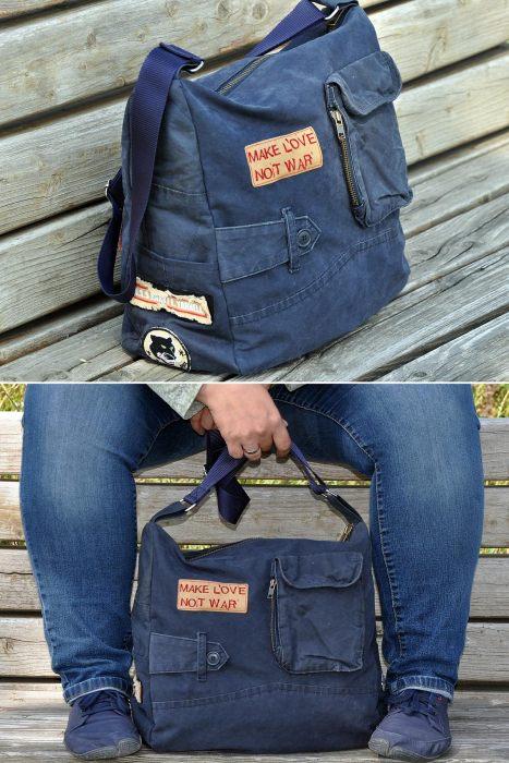 Alltagstasche Änne - toll auch als Upcycling Tasche - einfach zu nähen