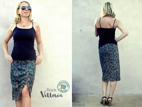 Damenrock nähen mit Vittoria Design bienvenido colorido erhältlich bei farbenmix