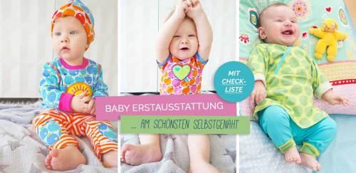 Erstausstattung für Babys selber nähen