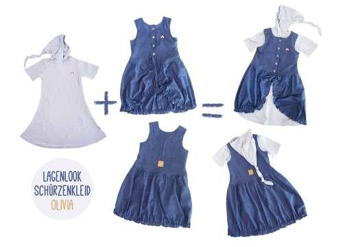 3 in 1 Lagenlook Kinderkleid Olivia Kinderkleider nähen Farbenmix