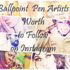 ballpoint pen artist follow instagram