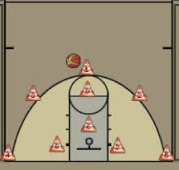 basketball golf shooting drill