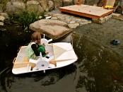 hand made paddle wheeler