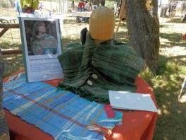 display of saori weaving