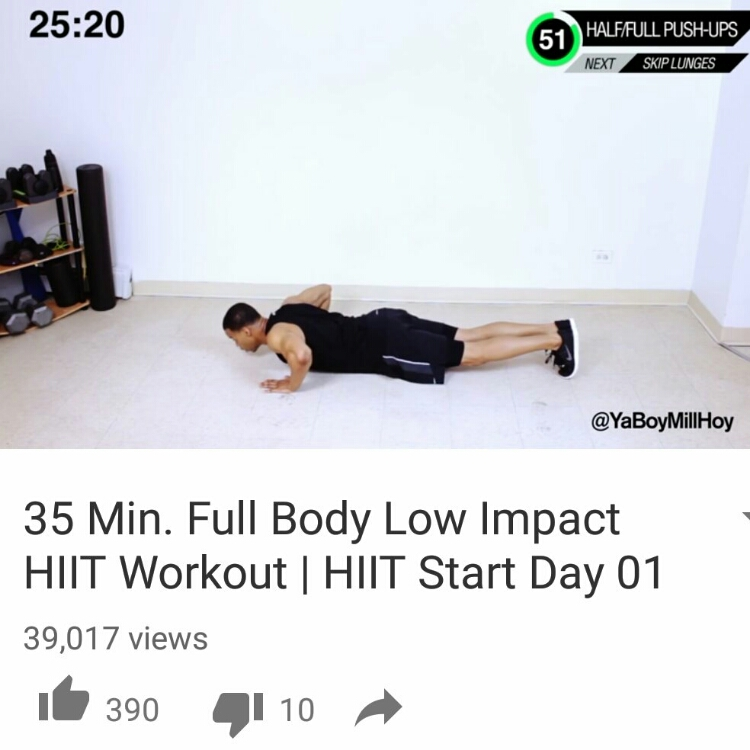 "Workout of the day: ""35 Min. Full Body Low Impact HIIT Workout 