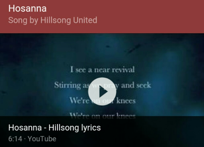 "Praise and worship ""Hosanna - Hillsong United"""
