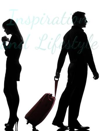Man leaving woman