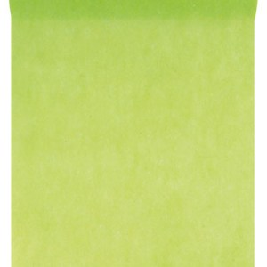 Chemin table intissé vert