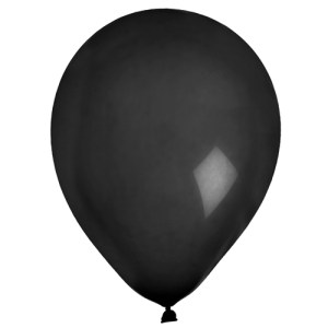Ballon uni noir
