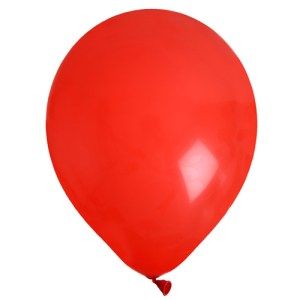 Ballon uni rouge