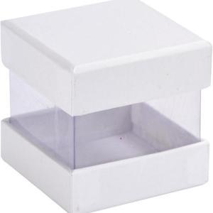 Boite cube blanche