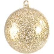 Boule à paillette en plexi or