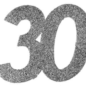Confetti 30 argent
