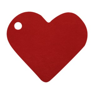 Étiquette cœur bordeaux