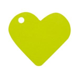 Étiquette cœur vert